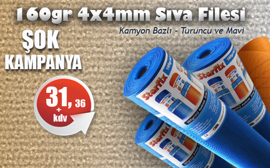 160gr 4x4 Alkali Sıva Filesi
